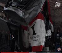 فيديو وصور  التفاصيل الكاملة لحادث تصادم قطاري روض الفرج وإمبابة
