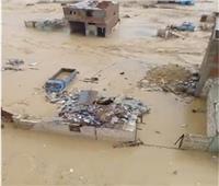 فيديو  مياه «الأمطار» تبتلع منازل منطقة «الزرايب» بـ 15 مايو