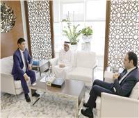 أمينا حكماء المسلمين والأخوة الإنسانية يستقبلان سفير كازاخستان بالإمارات