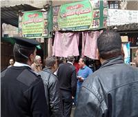 صور  حملة لإزالة الإشغالات ومراقبة القهاوي في بولاق الدكرور