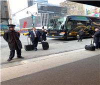 صور| وفد مصر للطيران يتحدى كورونا في نيويورك