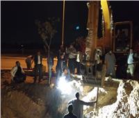 ضخ مياه الشرب بالخط الناقل الجديد لتغذية مدينة أخميم الجديدة