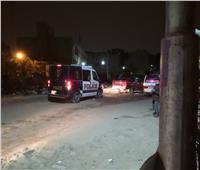 بالصور  قوات الأمن تسيطر علي شوارع بولاق الدكرور