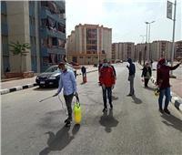 تطهير شوارع «الأسمرات» لمواجهة كورونا