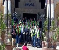 نائبة محافظ القاهرة تشيد بأداء عمال النظافة في حي المعادي