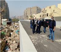 محافظ القاهرة يتفقد إزالة المنطقة العشوائية أعلى نفق الزعفران