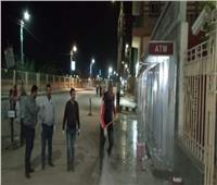 رش وتطهير الشوارع العامة والميادين بمركز سمالوط في المنيا