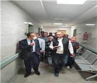نائب محافظ المنيا يتابع التجهيزات الجديدة لافتتاح مستشفى ملوي