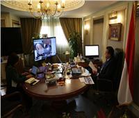 وزير التعليم العالي يشارك في حوار افتراضي لبحث أزمة فيروس «كورونا» المستجد