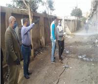 تعقيم قرية «ميت برة» ومنزل المواطن المصاب بفيروس كورونا بقويسنا