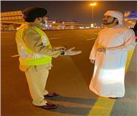 ًصور| ولي عهد دبي يتفقد عمل دوريات الشرطة في الحظر