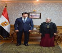 وزير الرياضة يلتقي رئيس اللجنة البارلمبية المصرية