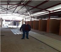 رئيس حي الزاوية يتابع أعمال تطوير سوق داير الناحية