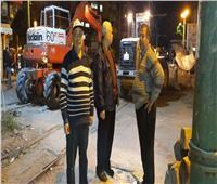 صور| بدء أعمال تطوير مزلقان ترام سيدي جابر بالإسكندرية
