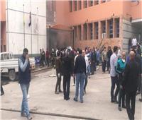 صور| إخماد حريق بمخزن الأدوية بمستشفى القباري في الإسكندرية
