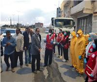 انطلاق أعمال حملة تطهير وتعقيم شوارع العريش بشمال سيناء