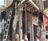 حريق هائل بمتجر للعطارة في الشرقية