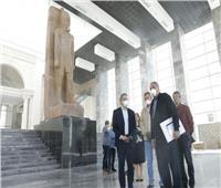 وزير السياحة يتفقد أعمال متحف العاصمة الإدارية