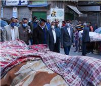 جولة مفاجئة لمحافظ الإسكندرية بسوق الميدان بالمنشية لمتابعة الإجراءات الوقائية