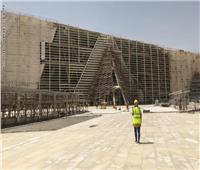 """المشرف على """"المتحف الكبير"""" :الانتهاء من نسبة ٩٦ ٪ من الأعمال الإنشائية والهندسية بالمتحف"""