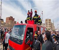 صور| محافظ البحيرة ومساعد وزير الداخلية يتقدمان جنازة الشهيد محمد الحوفي