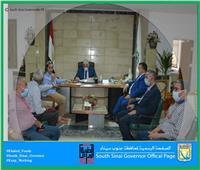 محافظ جنوب سيناء يناقش مع رئيس «تعمير سيناء» المشروعات الخدميةالجاري تنفيذها