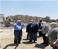 محافظ القاهرة يتفقد أعمال إزالة تعديات على أملاك الدولة بالبساتين