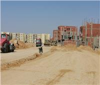 استكمال أعمال المرافق لأراضي الإسكان الاجتماعي بمدينة العاشر من رمضان