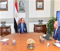 الرئيس السيسي يجتمع مع رئيس الوزراء ووزير النقل