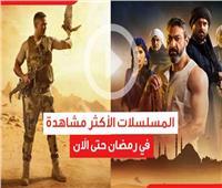 فيديوجراف| المسلسلات الأكثر مشاهدة في رمضان حتى الاَن