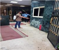تعقيم وزارة التنمية المحلية بعد زيارة محافظ الدقهلية المصاب بكورونا.. صور