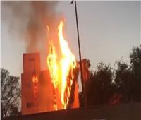 بالفيديو  السيطرة على حريق في مستشفى حميات إمبابة