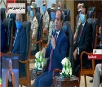 فيديو| السيسي عن البناء العشوائى: ده حال 50% من مساكن مصر