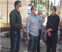 سكرتير عام الغربية يتفقد التزام المواطنين بالحظر بقرية دماط
