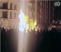 فيديو | حريق هائل بالزيتون نتيجة انفجار ماسورة غاز