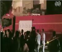 فيديو| الحماية المدنية تسيطر على حريق خط غاز حلمية الزيتون