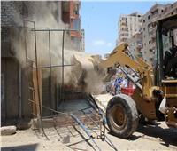 صور| حملات مكبرةلإزالة الإشغالات بمنطقة البراجيل بالجيزة