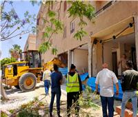 رصد وإزالة ٥ مخالفات تغيير نشاط لوحدات سكنية بمدينة ٦ أكتوبر