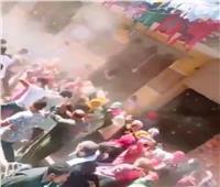 """فيديو..عرس زفاف يتحدى كورونا بـ""""الرقص والدي جي"""" بالقليوبية"""