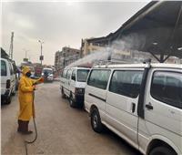 رئيس جهاز العاشر من رمضان يتفقد مواقف سيارات الأجرة لمتابعة الإجراءات الوقائية