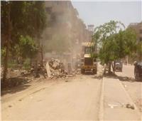 إزالة سوق جيهان العشوائي بالزاوية الحمراء لمنع انتشار كورونا