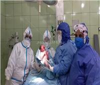 أول حالة ولادة قيصرية داخل مستشفى عزل كفر الدوار