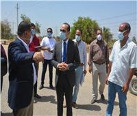 نائب محافظ سوهاج يتفقد أعمال «حياة كريمة» في قرى جهينة