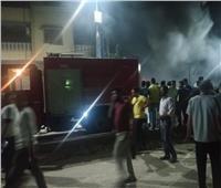 بالفيديو| حريق معرض أجهزة كهربائية في القليوبية