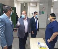 """صور  نائب محافظ الجيزة يتفقد مستشفى إمبابة العام و""""الوراق المركزي"""""""
