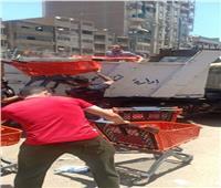 حملة مكبرة لإزالة الاشغالات فى حي الهرم