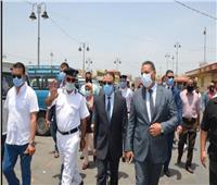 محافظ الإسكندرية يشن حملة مكبرة لإزالة التعديات والمخالفات بالموقف الجديد