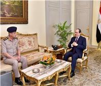 «السيسي» يستقبل الفريق أول محمد زكي القائد العام للقوات المسلحة