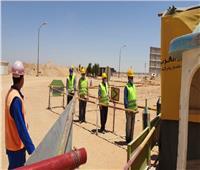 تكثيف أعمال المرحلة الثانية من محطة معالجة الصرف الغربية بـ6 أكتوبر