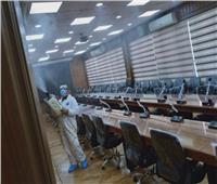 تطهير وتعقيم مبنى ديوان عام محافظة الدقهلية